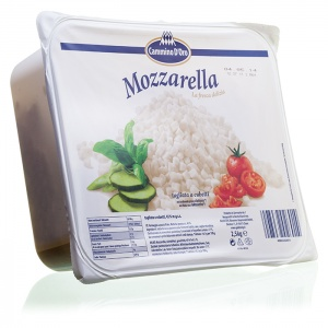 Mozzarella krojona w kostkę do pizzy CAMMINO D'ORO 2,5kg